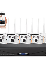 SANNCE® 4CH Wireless 1.0MP 720P NVR POE Security IP Camera Kit System Home Network Outdoor Cctv System