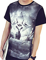 DMI™ Men's Round Neck Print Casual T-Shirt
