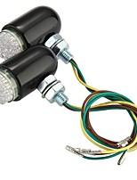 2 x 24 LED lampeggiante spia di luce di sicurezza posteriore del motociclo