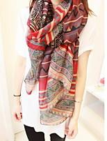 Women Bohemian National Wind Splice Color Geometric Scarves Scarf