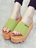 Chaussures Femme-Extérieure / Décontracté-Noir / Vert / Rose / Gris-Plateforme-Creepers-Sandales / Chaussons-Similicuir