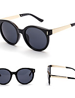 100% UV400 Round Fashion Wood Lines Mirrored Sunglasses