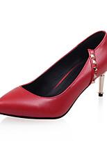 Chaussures Femme-Bureau & Travail / Habillé-Noir / Rouge / Blanc-Talon Aiguille-Talons / Bout Pointu-Talons-Similicuir