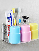 Contemporary Space Aluminum Anodizing Wall Mounted Toothbrush Holder