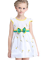 Girl's Yellow Dress Cotton / Polyester Summer