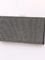 Women leatherette Minaudiere Clutch / Evening Bag / Wallet / Mobile Phone Bag-Gold / Silver / Black