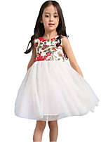 Girl's Dress Flower Tulle Tutu Party Birthday Pageant Cute Baby Kids Clothing Dresses