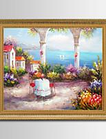 Paisagem Pinturas a Óleo Emolduradas 62x72cm Wall Art,Madeira