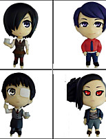 Tokyo Ghoul PVC One Size Anime Action Figures Model Toys Doll Toy 4 pcs 8cm