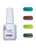 ILuve Gel Nail Polish Set - Pack Of 4 - Long Lasting 3 Weeks Soak Off UV Led Gel Varnish – For Nail Art #4031