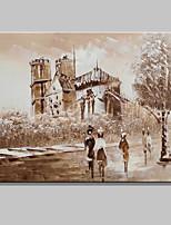 taille mini peinte à la main paris paysage urbain peinture à l'huile moderne sur la toile un panneau prêt à accrocher 20x25cm