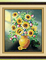Diamond Mosaic Sunflowers 5D Round Rhinestones DIY Smiling Sunflower Painting Cross Stitch Diamond Embroidery Kit