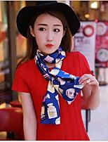 Women Summer New Fashion Printed Silk Scarves Korean Retro Double Scarf