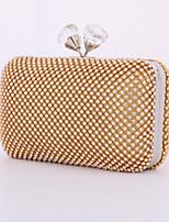 Women Metal Minaudiere Tote / Clutch / Evening Bag / Wallet / Mobile Phone Bag-Gold / Silver / Black
