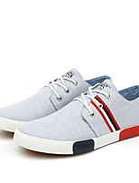 Men's Shoes Casual Canvas Fashion Sneakers Blue / Gray