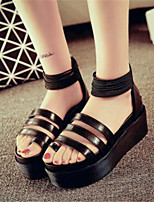 Women's Shoes Platform Peep Toe / Creepers Sandals Office & Career / Party & Evening Black / White