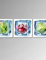 VISUAL STAR®Stretched Frozen Vegetable Pictures Digital Canvas Prints for Home Decoration Ready to Hang