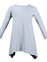 Girl's Black / Gray Dress Cotton Spring / Fall