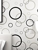 PALUTON Art Deco Wallpaper Contemporary Wall Covering,Non-woven Paper Personalized Modern Minimalist Fashion Circle