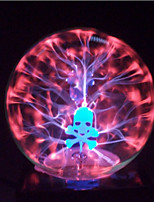 Magic Glass Plasma Ball Sphere Skull 4-Inch Electronic Magic Ball Creative Crafts Ornaments Birthday Gift for Kids