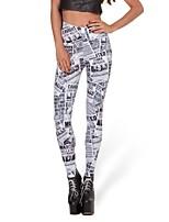 Women Print Legging,Cotton / Spandex Medium