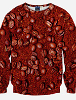 Men's Long Sleeve Hoodie & Sweatshirt,Polyester Print