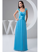 Formal Evening Dress-Pool A-line Sweetheart Floor-length Chiffon
