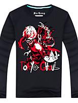 Tokyo Ghoul Blue,Black,White Cotton T-shirt