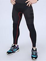 Hombres Carrera Prendas de abajo Fitness Transpirable / Secado rápido / Compresión Negro / Azul Otros Ropa deportiva