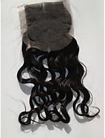 peruano piezas 7a grado del pelo humano sueltos profundos cordón de la onda del pelo de cierre superior para las mujeres de la belleza
