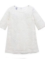 Girl's White Dress Cotton Summer / Spring