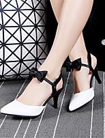 Calçados Femininos-Saltos-Saltos-Salto Agulha-Rosa / Branco-Materiais Customizados / Courino-Casamento / Escritório & Trabalho / Social /