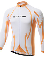 XINTOWN Pro Team Orange Cycling Clothing Bike Bicycle Long Sleeve Cycling Jersey