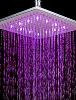 Monochrome LED Shower Nozzle Top Spray Shower Nozzle (Pink)(10 Inch)