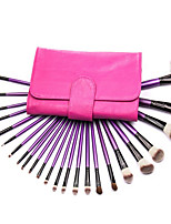 High Quality 24 Pcs Styling makeup Tools Super Soft Makeup Brushes Cosmetic brushes kits set With Rose Leather Bag