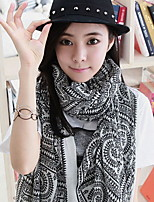 Spring Fashion Pink Tower Maze Printing Mercerizing Scarves Scarf