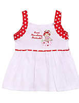 Girl's Blue / Purple / Red Clothing Set,Polka Dot Cotton Summer