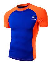 Maillot de Cyclisme Homme Manches courtes Vélo Tee-shirt Shirt Hauts/Tops Sportif Eté Cyclisme Sport de détente Vert Blanc Orange