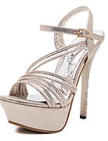 Women's Shoes Stiletto Heel Heels / Peep Toe / Platform Sandals Wedding / Party & Evening / Dress Silver / Gold