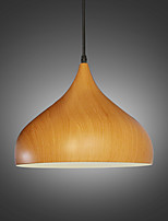 Max 60W Retro pendant lights Wood Grain Metal Dining Room,  Living Room, Cafe , Kitchen , Kids Room pendant lamps
