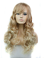 Long Length Hair European Weave Multi-color Hair Synthetic Wig