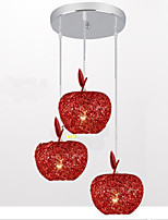 Woven Aluminum Chandelier With Three Head Lamp Apple Restaurant A