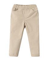 Girl's Black / Beige Pants Cotton Spring / Fall