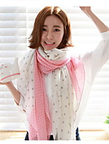 Temperament Pink Spell Color Voile Printed Scarves