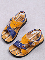 Boys' Shoes Outdoor / Dress / Casual Leather Sandals Summer Walking Shoes Yellow / White