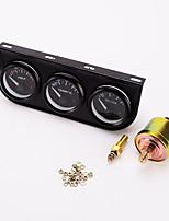 iztoss 52 mm de calibre de triple 3 en 1 (+ voltímetro medidor de temperatura del agua + indicador de prensa de aceite) de 52 mm sensor