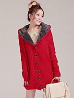 Damen Strickjacke - Street Schick Wolle / Polyester Medium Langarm