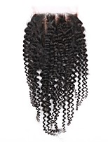 1pcs Lace Frontal Closure Kinky Curly Size 4