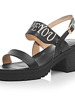 Women's Shoes Platform Platform / Ankle Strap Sandals Office & Career / Dress / Casual Black / White