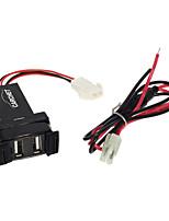 Dual Port Usb Plug Takes Charge For Mobile Dc 12V Car Mitsubishi 2.1A